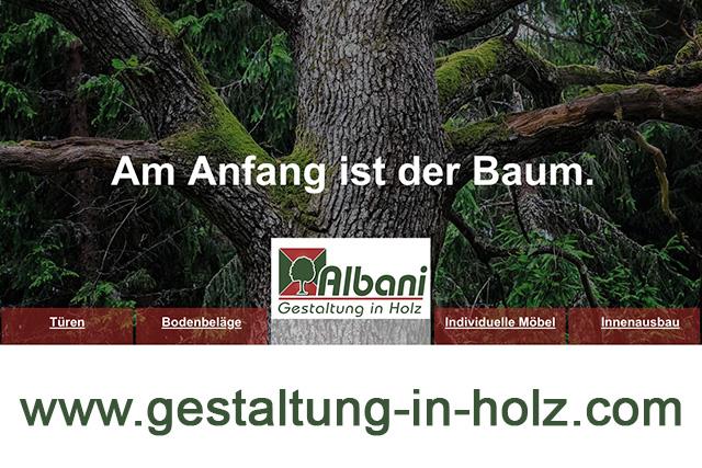 Gestaltung in Holz Website